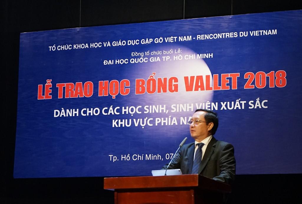 PGS.TS Huỳnh Thành Đạt phát biểu tại buổi lễ